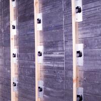 Lead wall ready for plasterboard