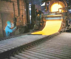 Lead glass in production