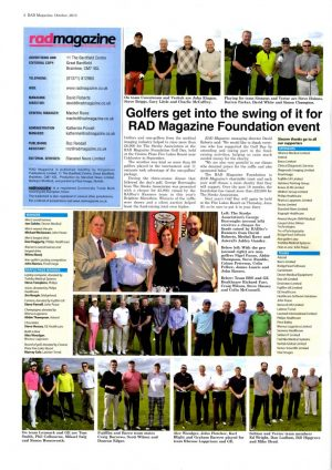 RAD Mag Golf Day October 2015 Issue