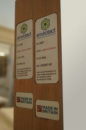 Envirotect Made in Britain Door Plate