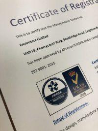 Envirotect Isoqar Certificate 2020